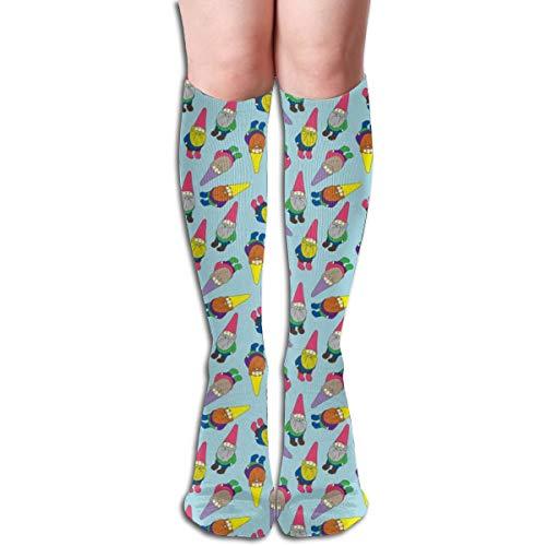 Pillowcase Wholesale Garden Gnomes (blue) Women Tube Knee Thigh High Stockings Cosplay Socks 50cm (19.6 inch) Lady Blue Garden Gnome