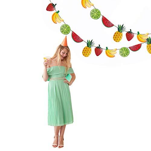 urtstag Banner Party Dekorationen Kreative Obst Muster Hängende Girlande für Geburtstagsfeier ()