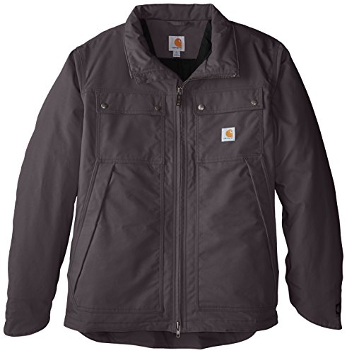 Carhartt Men's Big & Tall Quick Duck Jefferson Traditional Jacket,Charcoal,X-Large Tall Duck Traditional Jacket