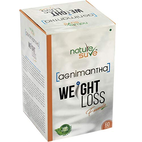 Nature Sure Agnimantha Weight Loss Formula for Men and Women - 1 Pack (60 Capsules)