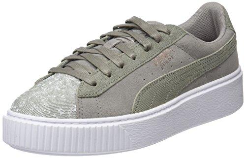 Puma Suede Platform Pebble, Zapatillas para Mujer, Gris (Rock...
