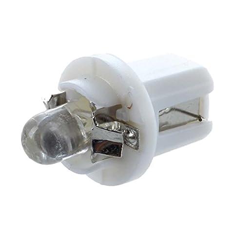 SODIAL(R) 10x T5 AMPOULE Lumiere LED Jauge Blanc lumiere COMPTEUR TABLEAU DE BORD B8-5D feux Voiture 12V