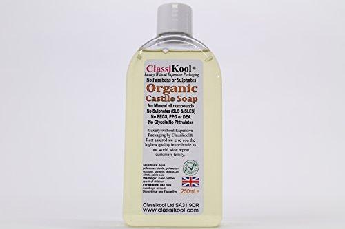 Classikool Organic Fragrance-Free [Liquid Castile Soap] - Certified SLS Free - Choose Size [Free UK Post*] (250ml)