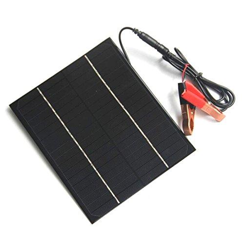 LaDicha Portatile 12V 6W Pannello Solare In Silicio Monocristallino Diy Con Clip Di Coccodrillo
