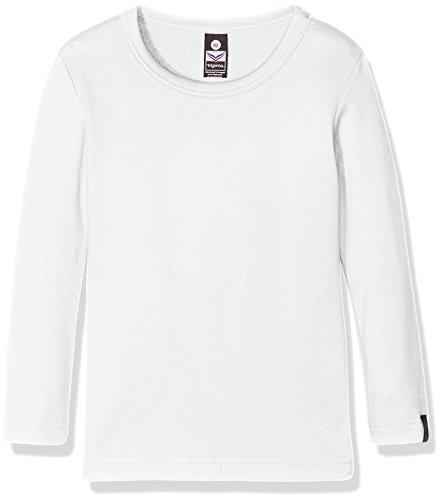 Trigema Jungen Langarm-Shirt, T-Shirt Garçon Blanc