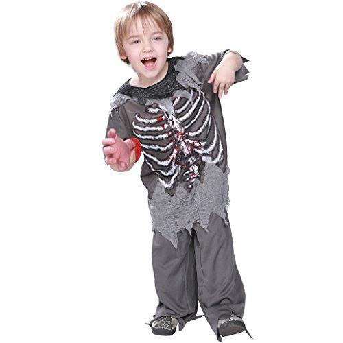 (EraSpooky Kinder Skelett Blutig Zombie Kostüm Halloween Cosplay Abschlussball Kleid Outfit)