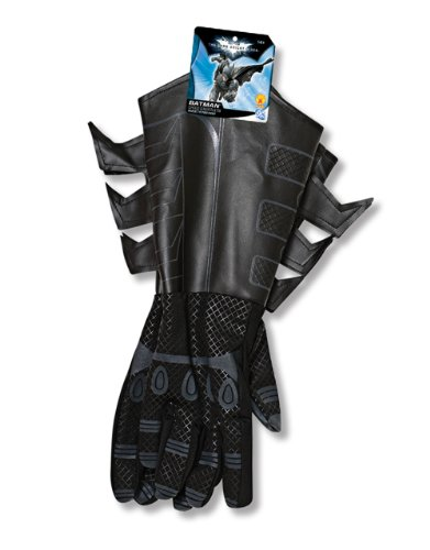 Batman The Dark Knight Rises Handschuhe Kinder Kostüm Zubehör Stoff / (Kind Kostüm Riddler)