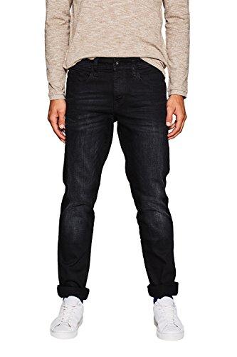 edc by ESPRIT Herren 107CC2B011 Slim Jeans, Schwarz (Black Dark Wash 911), W32/L32 -