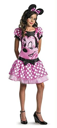 Clubhouse Kostüm Minnie Mouse - Disguise 187311 Mickey Mouse Clubhouse- Pink Minnie Mouse Child-Tween Costume