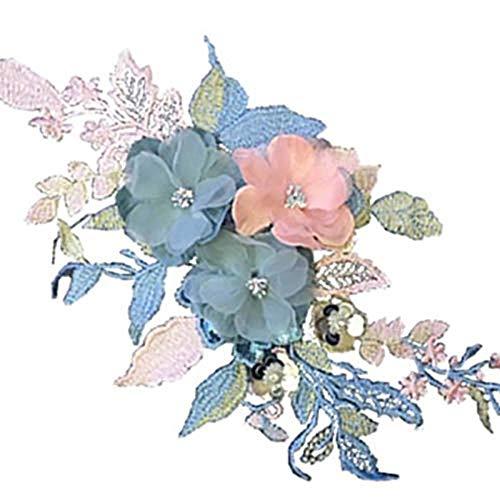 Ogquaton Moda Flores Hechas Mano Pegatinas Tela Calcomanías