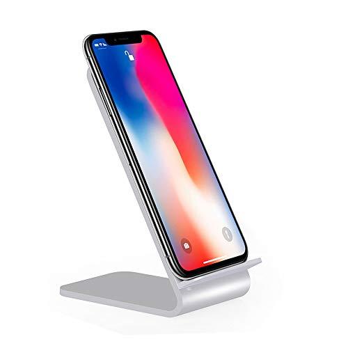 Preisvergleich Produktbild MMLC Fast Wireless Charger,  Qi Ladegerät für iPhone XS / XS Max / XR,  Aluminium Alloy kabelloses Induktive Ladestation Schnellladestation und alle Qi Fähige Geräte (A)