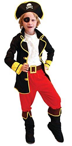 Kostüm Vier Jungs - GEMVIE Piraten Kostüm Kinder Pirat Kostüm Jungs Halloweenkostüm für Jungen zu Karneval und Kinderfasching 4-6 Jahre