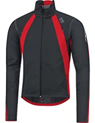 Gore Bike Wear Oxygen Windstopper - Chaqueta para hombre, color negro / rojo, talla M