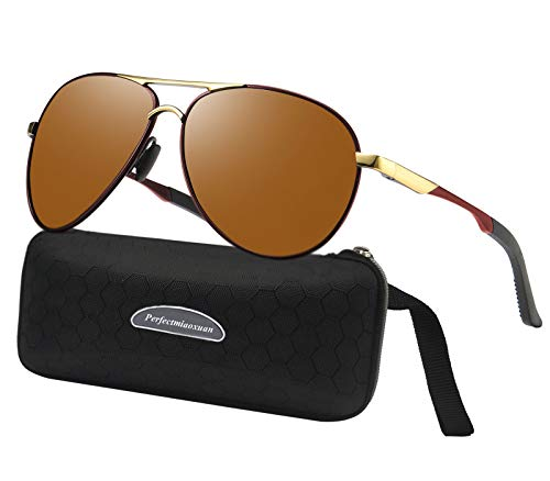 Gafas de sol polarizadas para hombre mujere metal Marco grande/Ciclismo Golf Conducción Pesca Escalada Verano Deportes al aire libre moda Gafas de sol