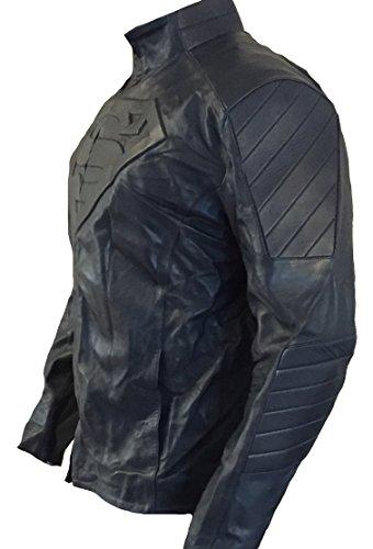 classyak Herren Super Fashion Echt Leder Top Qualität Jacke Faux Navy Blue