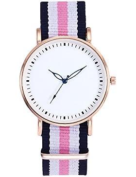 Souarts Damen Armbanduhr Bohemian stil Deko Analoge Quarz Uhr mit Batterie Rosa