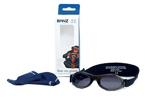 Banz Baby Bubzee Sonnenbrillen für Kinder von 0 bis 2 Jahren (Onyx)