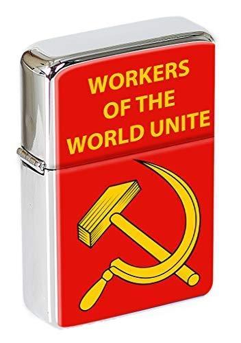 Trabajadores Del Mundo Unite Hoz Martillo Mechero