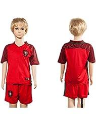 20162017Portugal Home für Kinder Kid Jugend Fußball Soccer passt Jersey in Rot
