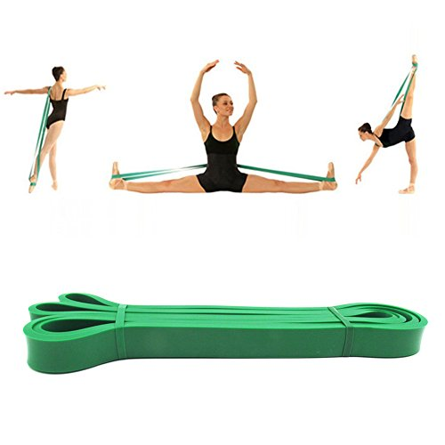 Tanz Fuß Keilrahmen Gurt Latex Loop Widerstand Bands für Mädchen Frauen Gymnastik Eislaufen Cheerleader Training verbessern Flexibilität ()