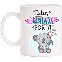 Taza Estoy Koalada por ti. Divertida taza de amor de koala