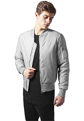 URBAN CLASSICS - Basic Bomber Jacket (heather grey) Heather Grey