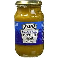 HEINZ Sauce Piccalilli Pickle Sauce Condimentaire à Base de Tomates/Dattes/Seigle 310 g - Lot de 4