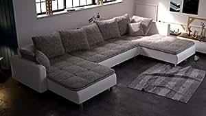Couchgarnitur Model Nummer 411127, Wohnlandschaft inkl. Kissen auf Wellenfederung NEU