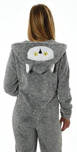 Loungeable, Damen Luxus 3D Tier All in One Einteiler Gr. 40, Snowy Owl - 4