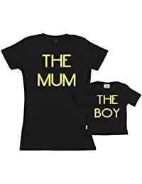 SR - Gift Boxed Mum & Baby Gift Set - The Mum The Boy Organic Matching Mother & Baby T-Shirts