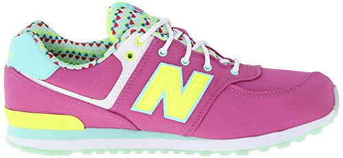 New Balance Youths Classics Textile Trainers Fuchsia