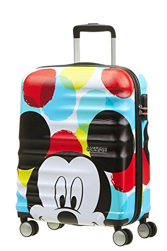 American Tourister Disney Wavebreaker Bagaglio a Mano, S (55cm-36L), Multicolore (Mickey Close-Up)