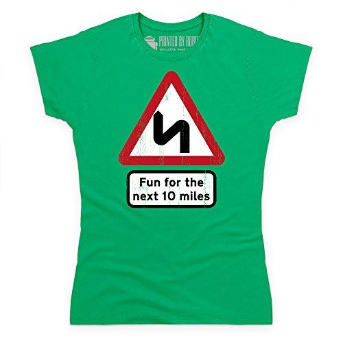 Fun For Ten Miles T-Shirt, Damen Keltisch-Grn
