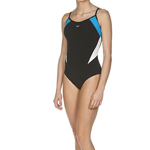 Arena Damen Badeanzug Bodylift Eclipse, Black/Turquoise/White, 44