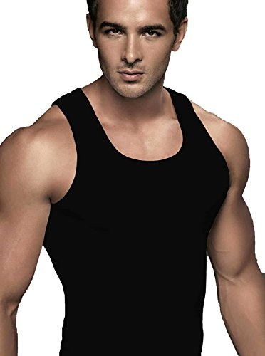 EURO Men's Cotton Vest (Pack Of 1) (CLASSIC_RNB-BLACK) (Size:XX-Large)  available at amazon for Rs.279