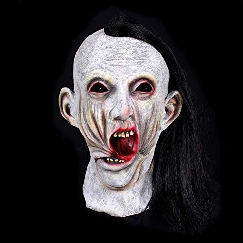 Kostüm Zubehör Scarface - Premium Halloween Maske Latex für Herren| Scarface Zombie Monster | Horror-Maske für Halloween-Kostüm | Verschiedene Charaktere aus Horror- & Fantasy-Film | Karneval Fasching Verkleidung