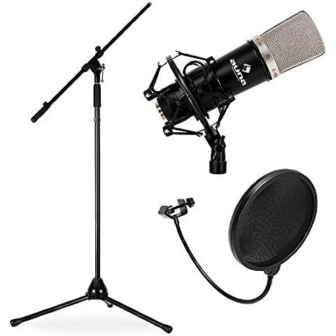 Set Microfono CM003 con Microfono, Stativo e Schermaggio