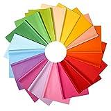 Btnow 72fogli di carta velina multicolore fogli di carta velina carta da regalo per arte artigianale decorativo, 18colori, 20× 66cm