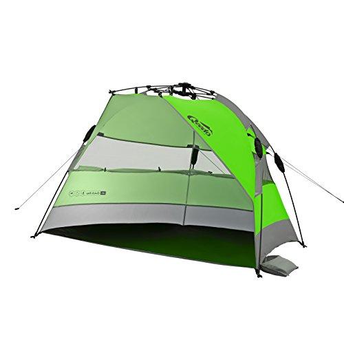 Qeedo Quick Bay Strandmuschel mit UV-Schutz und 360° Panorama View - grün
