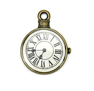 Lot de 10 Breloques - Horloge