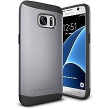 Funda Galaxy S7, Snugg Samsung Galaxy S7 Case Slim Carcasa de Doble Capa [Infinity Series] Revestimiento con Protección Anti-Golpes – Gris