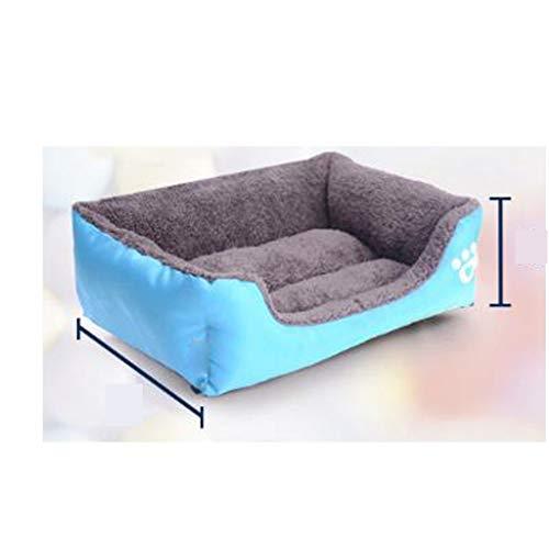 Wwwww bite cuccia cuccia resistente allo sporco caldo, sano impermeabile divano in tessuto letto pet inodore di cotone morbido e comodo letto caldo spesso sonno animale domestico (68 * 55 * 16 cm) nei