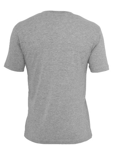 Urban Classics Herren T-Shirt V-Ausschnitt V-Neck Pocket Grey