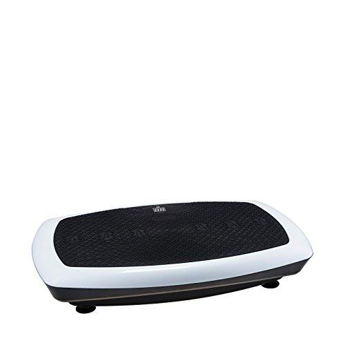 VibroSlim Radial 3D Vibrationsmaschine Plattform Power Fitnessmaschine - 3 Jahre Garantie; DVD, Poster und Armriemen inklusive - Weiß