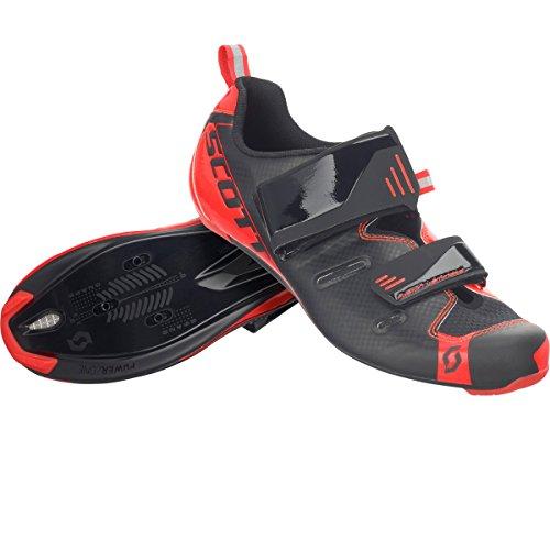 Scott Tri Pro Triathlon Fahrrad Schuhe schwarz/rot 2018: Größe: 45 (Tri Schuh Road)