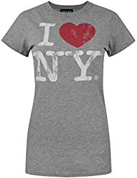 Junk Food I Love New York women s Slim Fit T-Shirt fed46bea0