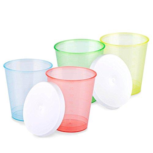 Tuuters.de 300x bruchsichere medicinali tazza in 4colori & # x2606; ideale anche come bicchierini & # x2606; farbmix + deckel