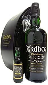 Ardbeg 10 Year Old 70cl + 5cl Uigeadail Presented In Gift Tin from Ardbeg