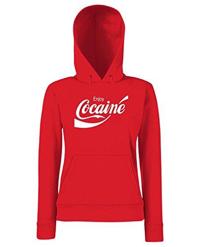 T-Shirtshock - Sweats a capuche Femme ENJOY0036 Enjoy Cocaine Rouge