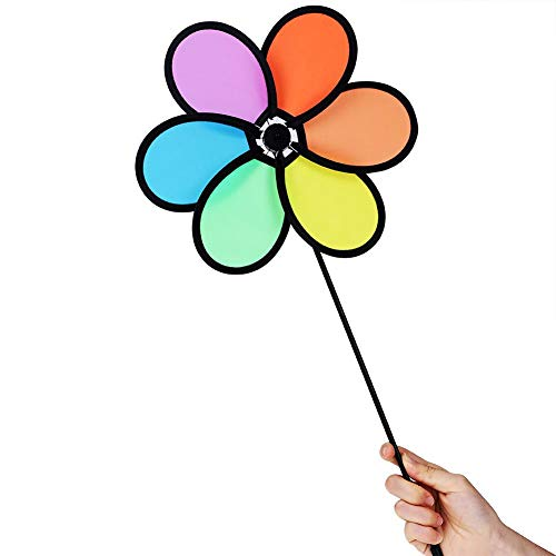 Zoternen Windmühle, Kunststoff, klassisches Spielzeug, für Kinder, DIY, Mehrfarbig, Blume, Windmühle, Dekoration für Garten, Kinderzimmer, Partys | Garten > Dekoration > Windmühlen | Zoternen